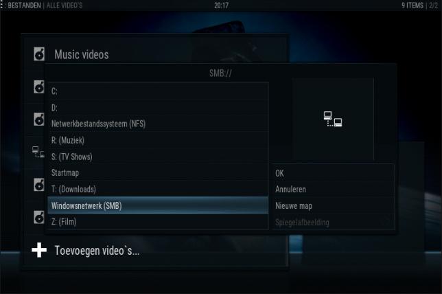 kodi instellen: video - bestanden - toevoegen